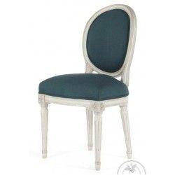 Chaise Louis Xvi Patinee Tissu Bleu Medaillon Chaise Ancienne Chaise Saulaie