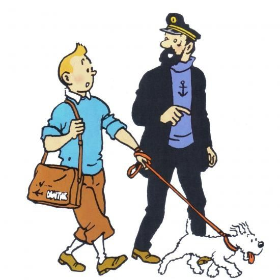Tintin haddock et milou the adventures of tin tin - Image de tintin et milou ...