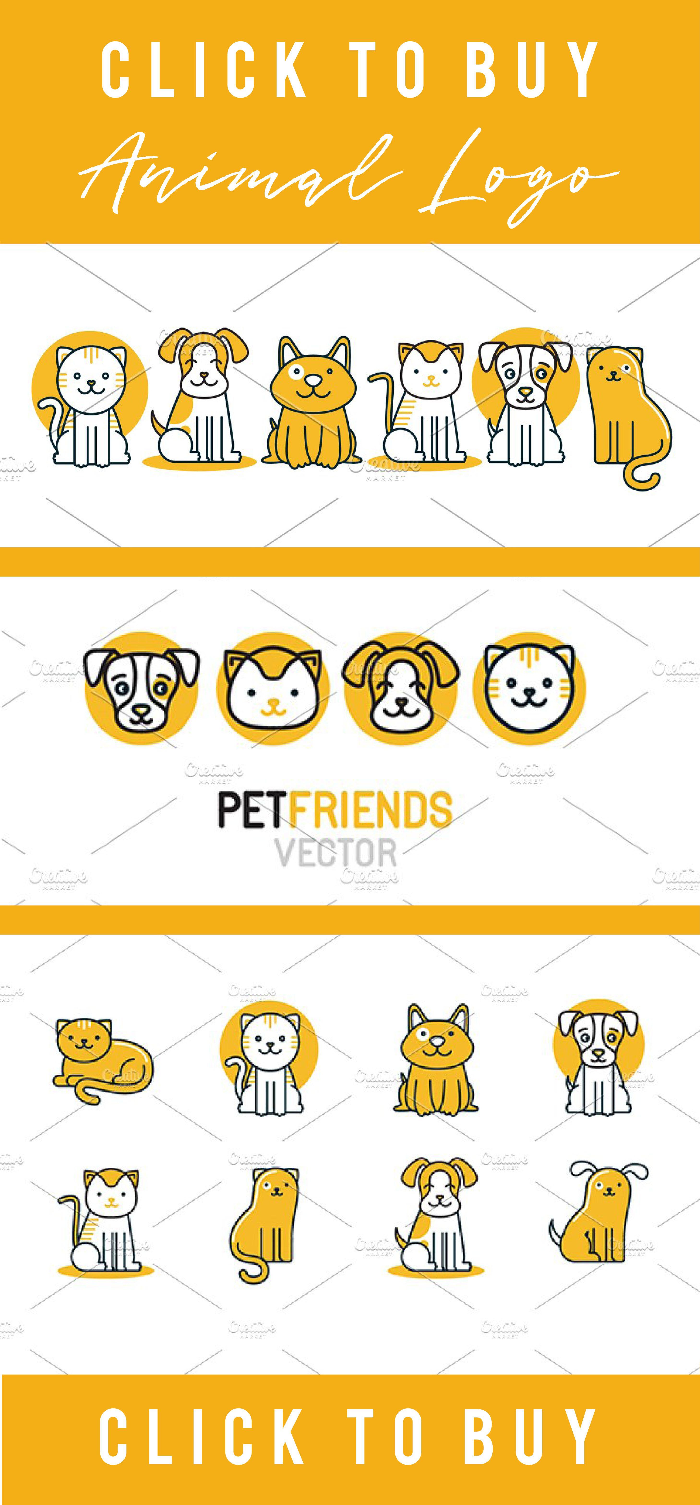 Pet Logos Icons And Patterns Pet Shop Logo Animal Logo Pet
