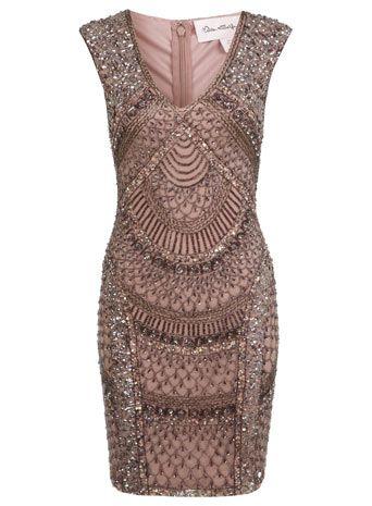 Kleid mit Fächermuster aus Pailletten - Vintage-Stil   Pailletten ...