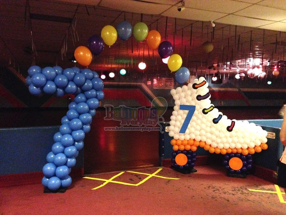 Balloon rollerskate