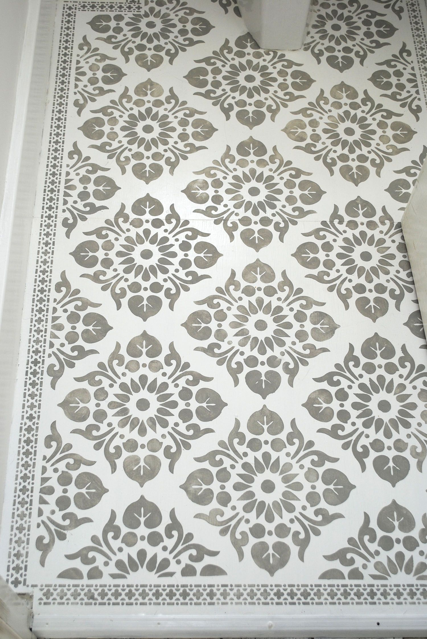 Stenciled Floor Linoleum