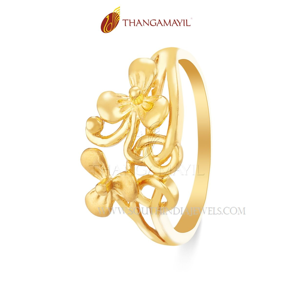Gold Matt Finish Daily Wear Ring | Ring Collections | Gold ...