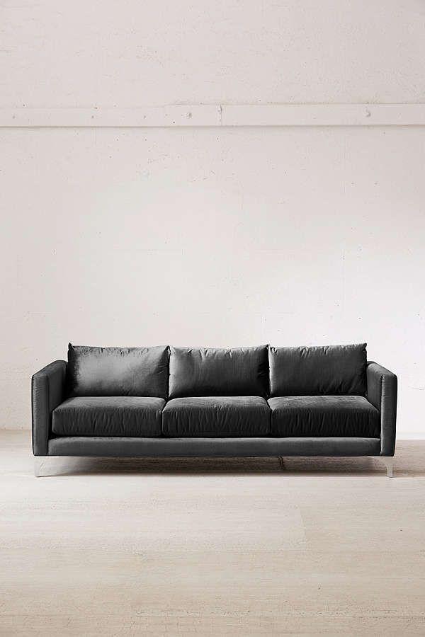 Chamberlin Velvet Sofa   Havenly