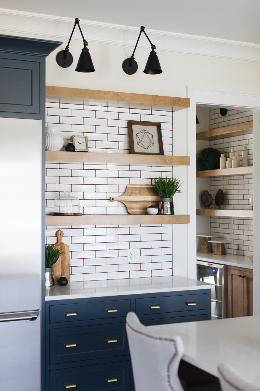 - Bold And Blue – Julie Howard Home Design Minimalist Kitchen