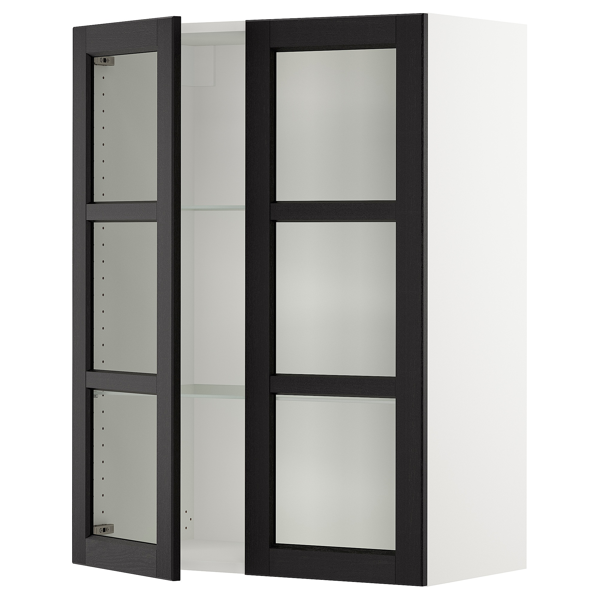 Ikea bookcase with glass doors  IKEA  SEKTION white Wall cabinet with  glass doors Frame colour
