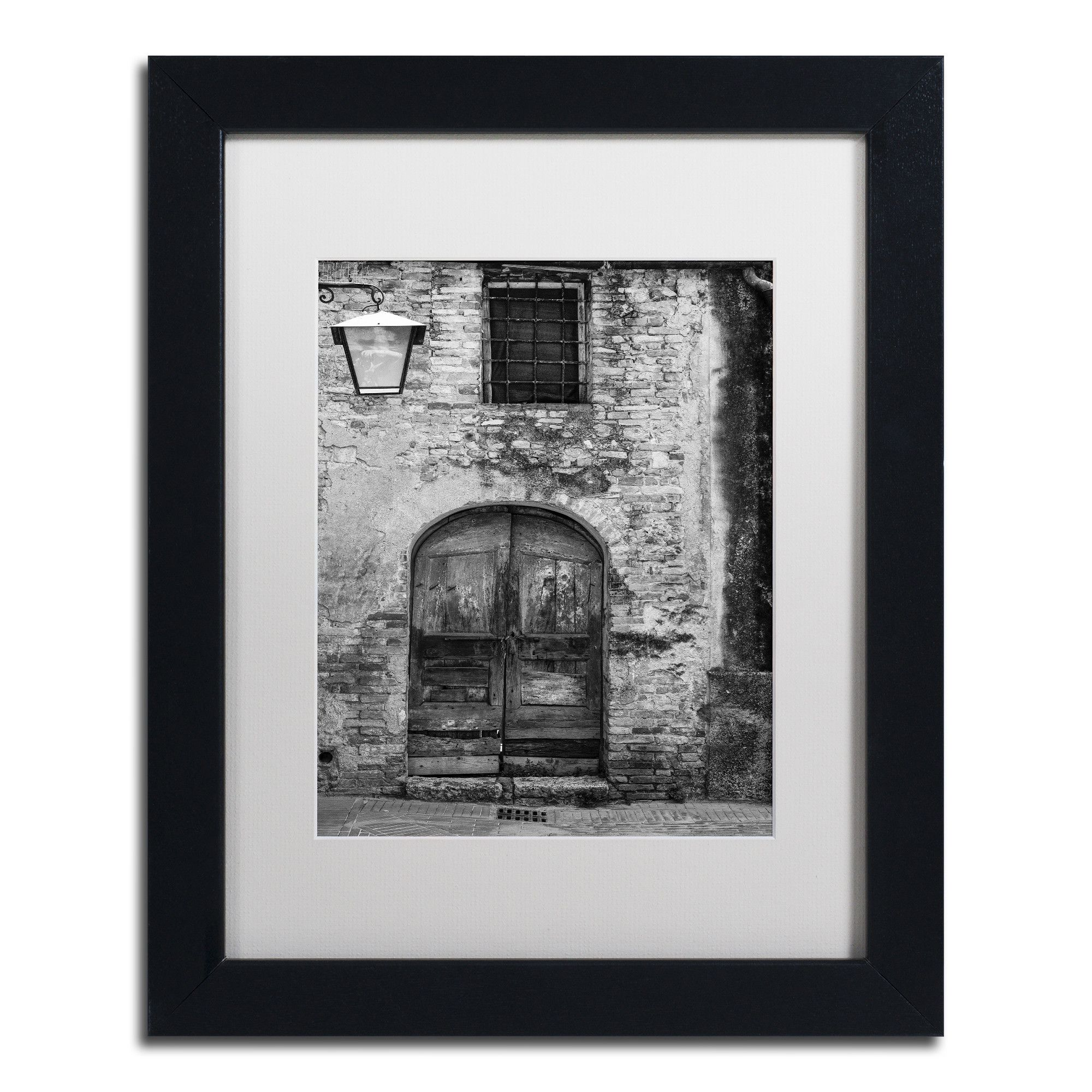 San gimignano door by moises levy framed photographic print in white