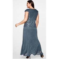 Photo of Große Größen: Abendkleid mit Spitze, blaugrau, Gr.50 Sheego