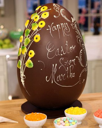 How To make Chocolate Easter Eggs ~ http://www.marthastewart.com/271062/embellishing-chocolate-easter-eggs?center=276968=275369=271062