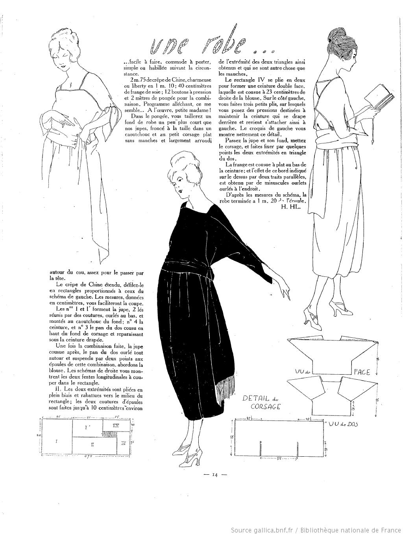 Robe sac (La Femme de France 14/03/1920) | 中道友子 by longflower ...