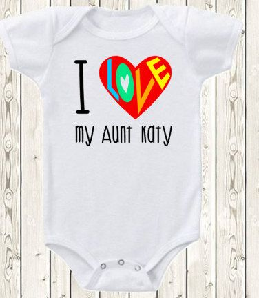 Personalized aunt onesie brand bodysuit or shirt i love my aunt personalized aunt onesie i love my aunt onesie by the1styearbaby negle Image collections
