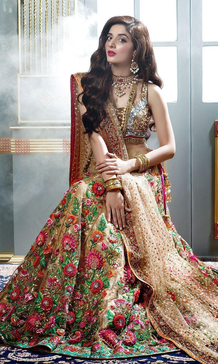 Light Gold Beautiful Pakistani Bridal Dress By Latest Pakistani