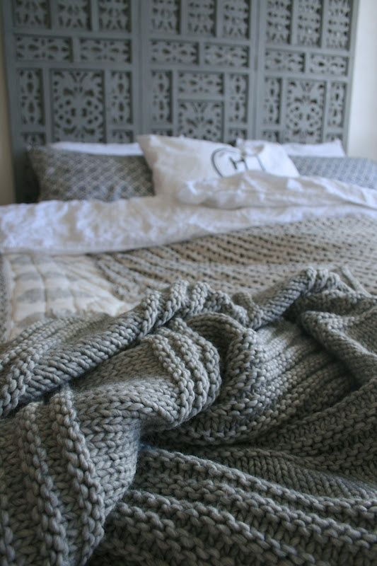 knitted bedspread