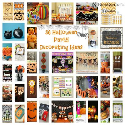 36 Halloween Party Decoration, Printables,  Favor Ideas Holiday - halloween decoration printouts