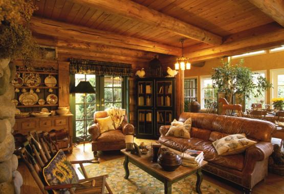Oasis Log Homes Living Room Log Home Living Log Homes Country