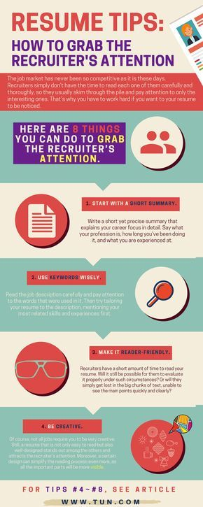 Resume Tips How to Grab the Recruiter\u0027s Attention The University