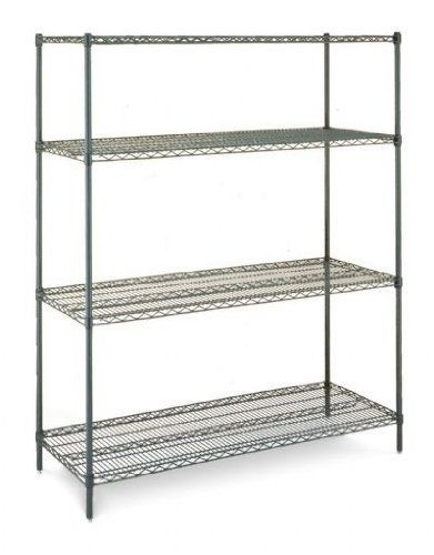 Olympic 24 Deep 4 Shelf Starter Units Green Epoxy 24 X 30 X 54 By Olympic 191 87 Olympic Wire Shelv Wire Shelving Wire Shelving Units Storage Spaces
