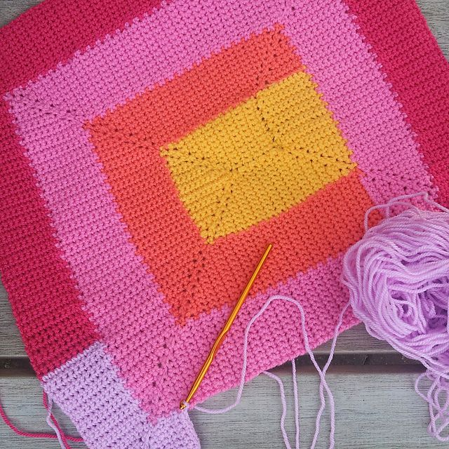 This Ten Stitch Blanket Crochet Pattern is a conversion of Frankie ...