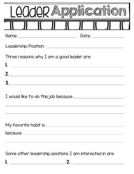 This Free Job Application Was Inspired By The Leader In Me Program