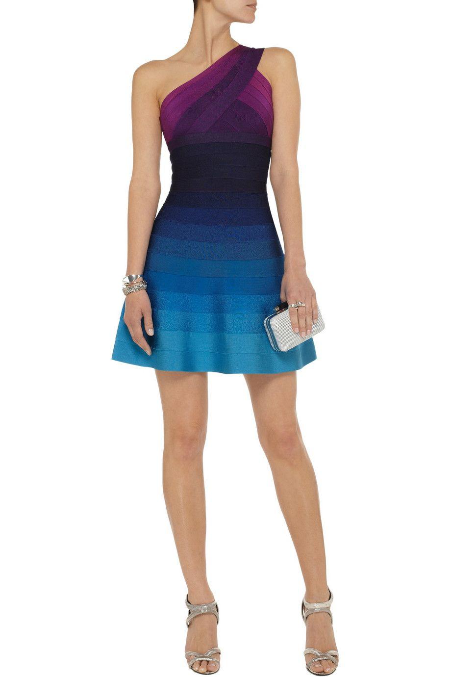 HervÉ lÉger linden ombré bandage mini dress dresses pinterest