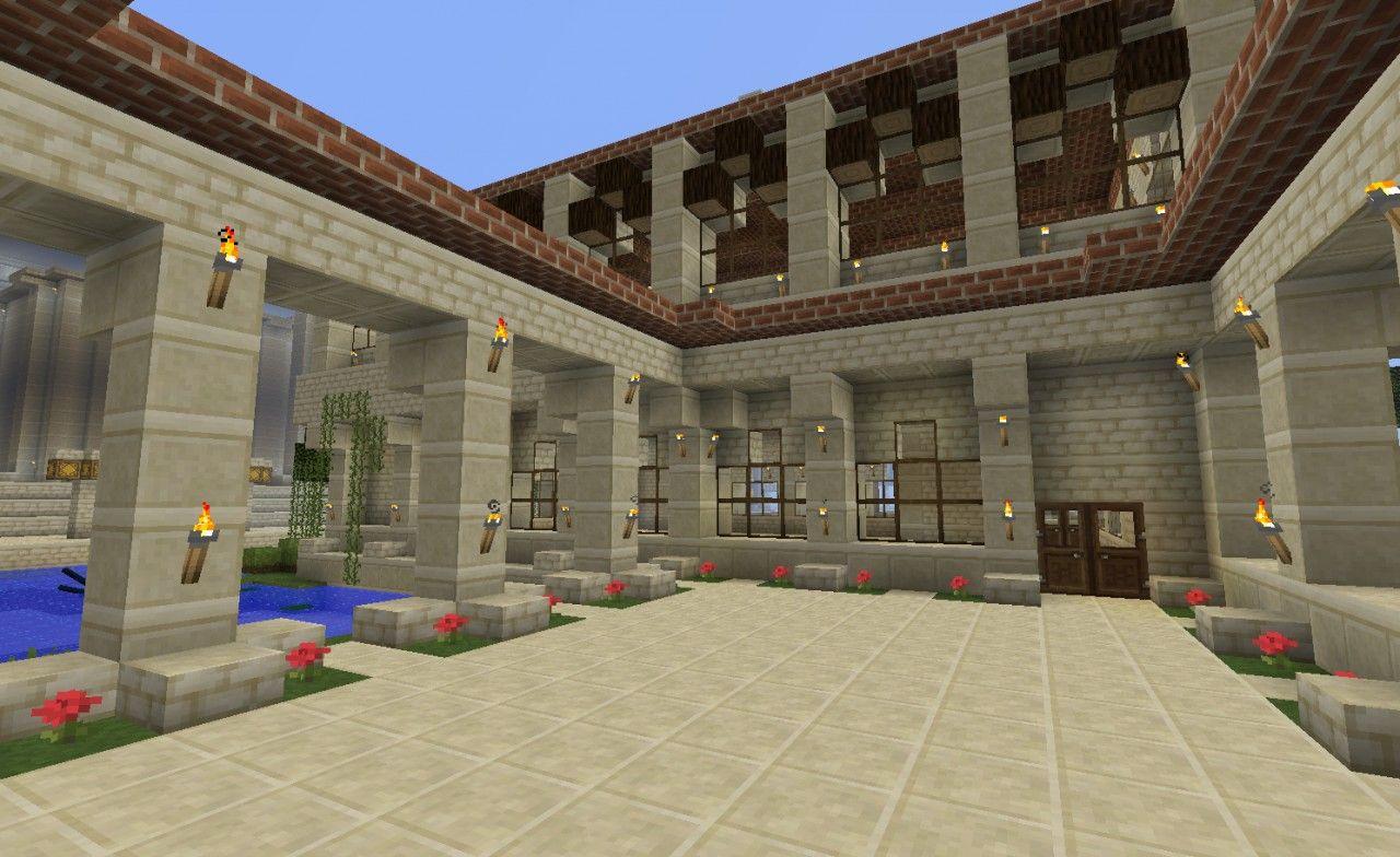 Roman house style Minecraft Project  Roman house, House styles, House