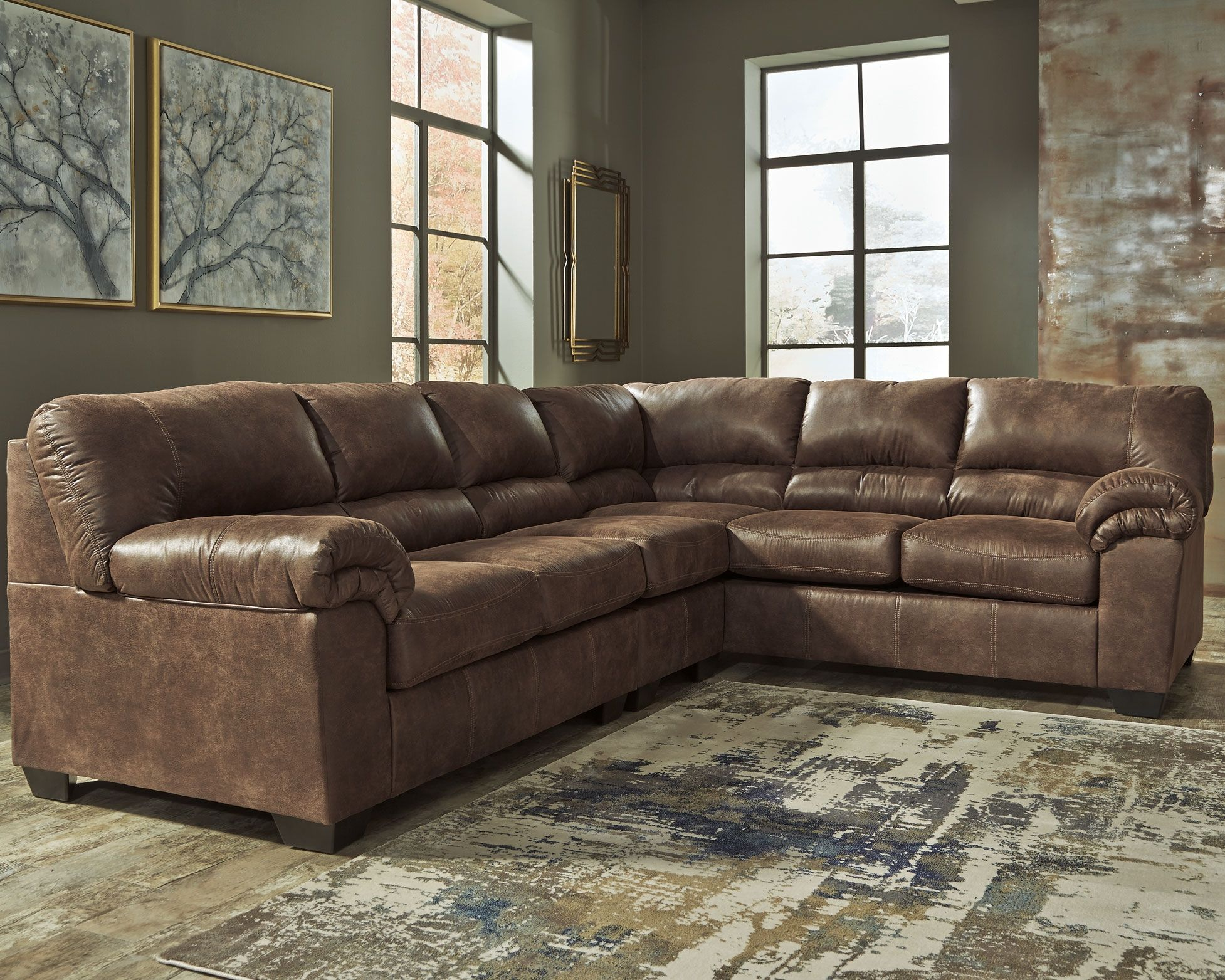 Bladen 3 Piece Sectional Coffee In 2020 Ashley Sectional Sectional Sofa Furniture