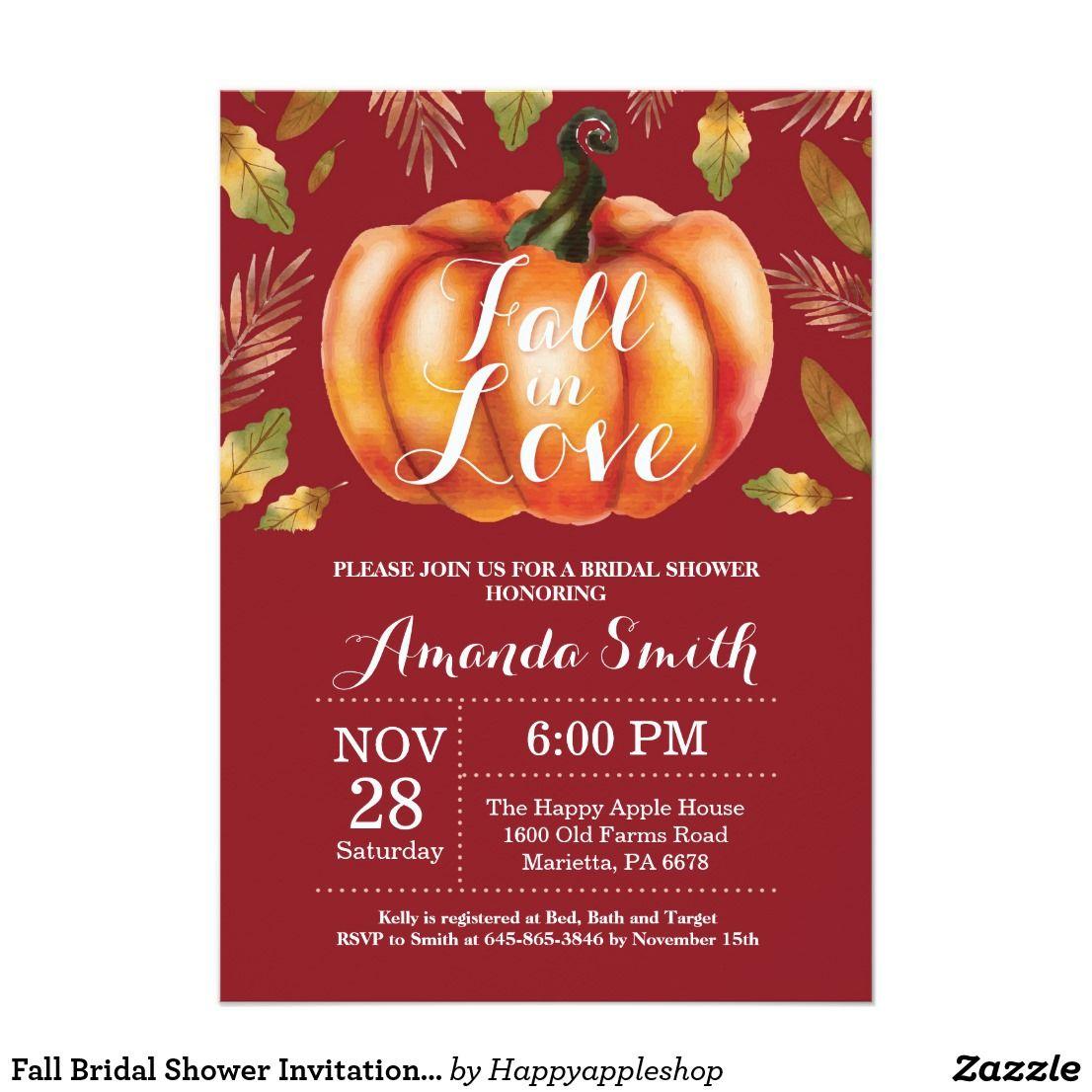 Fall Bridal Shower Invitation Card Burgundy | { Wedding Invitations ...