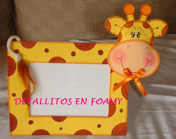 porta retrato girafinha