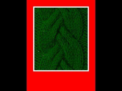 Trança relevo tricô