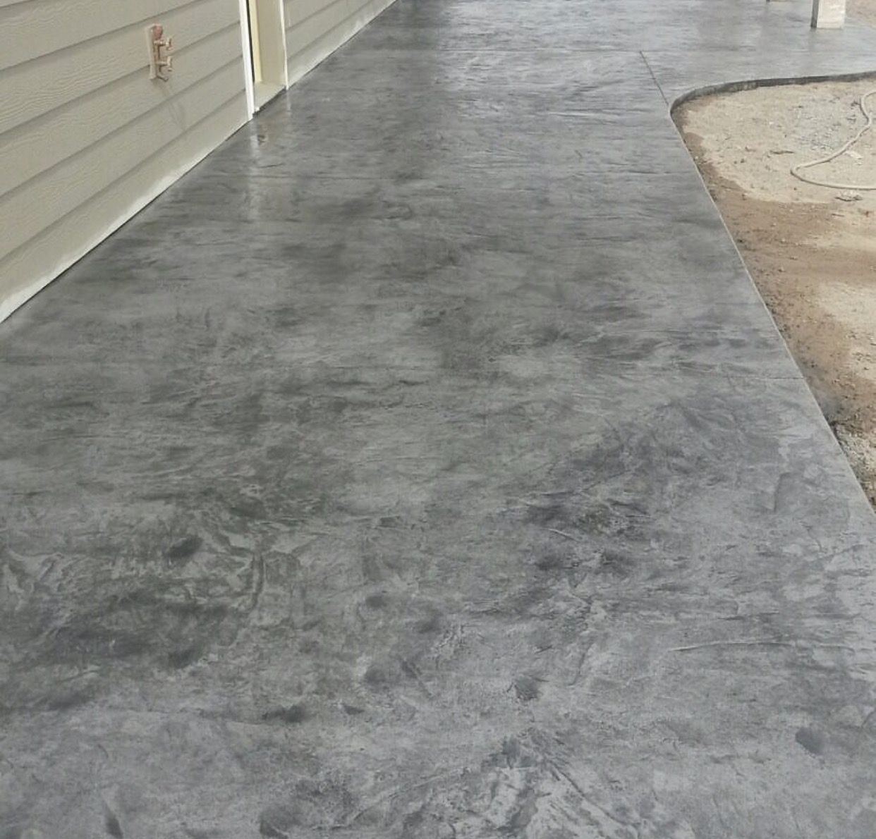 Italian Slate Stamp Walkway Concrete Patio Concrete Stain Patio Stamped Concrete Patio