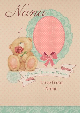 Ff Vintage Nana Rose Birthday Cards For Friends Birthday Wishes Friend Birthday
