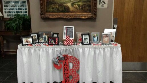 Memorial table at entrance of our wedding