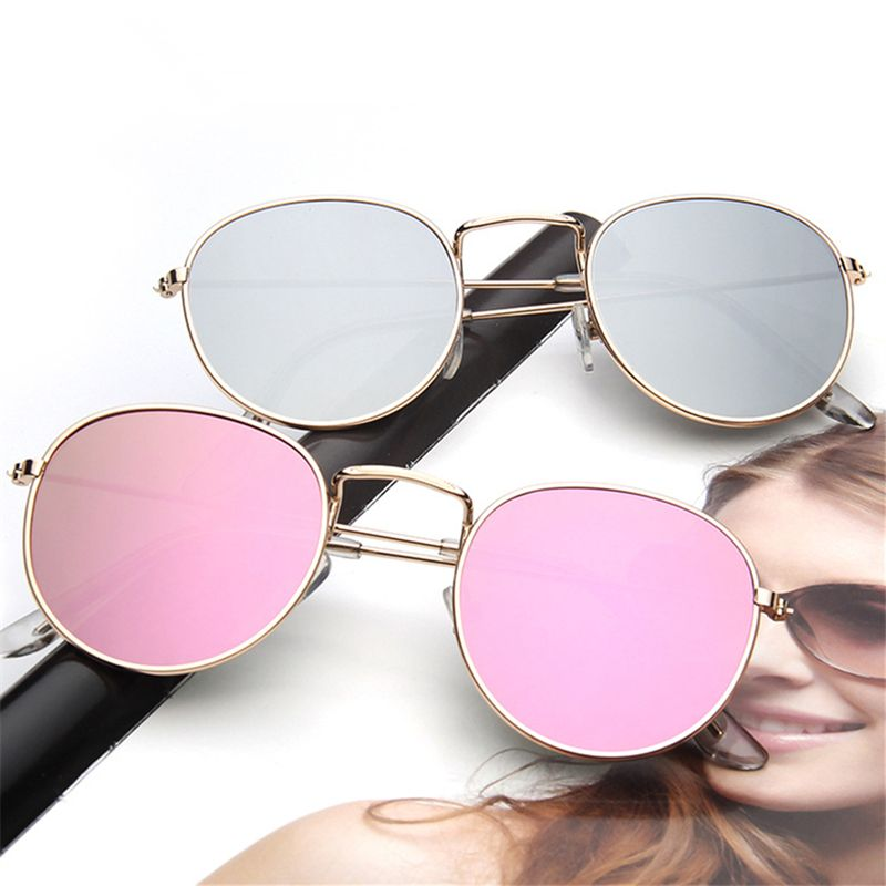 2017 retro gafas de sol redondas mujeres hombres diseñador de la ...