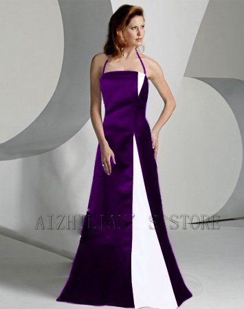 Purple Wedding Dress Tail Fashion Bridesmaid