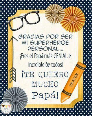 Te Quiero Papá Feliz Día Papá Carta Dia Del Padre Poemas Dia