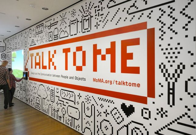 Title Wall For Talk To Me Design And The Communication Between People And Objects On View At Moma Ju Illustration Art Design Pixel Design Office Wall Graphics