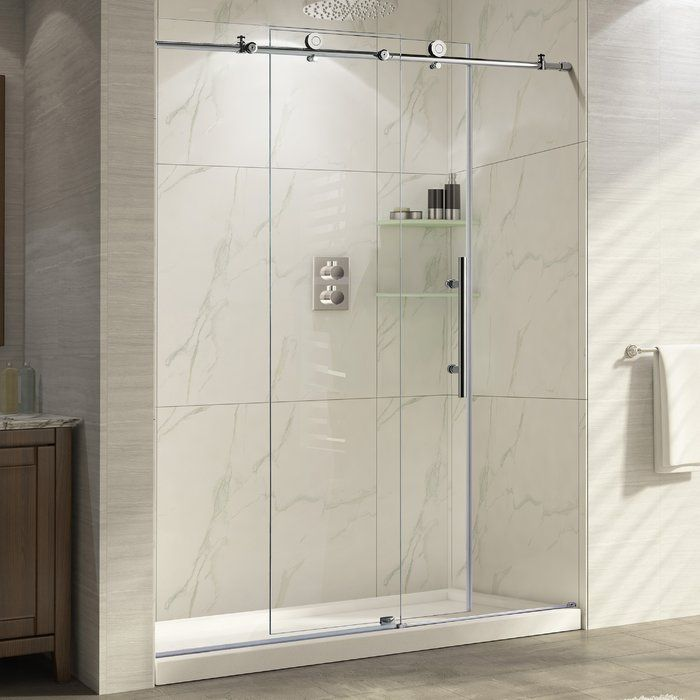 Trident 48 X 76 Single Sliding Frameless Shower Door