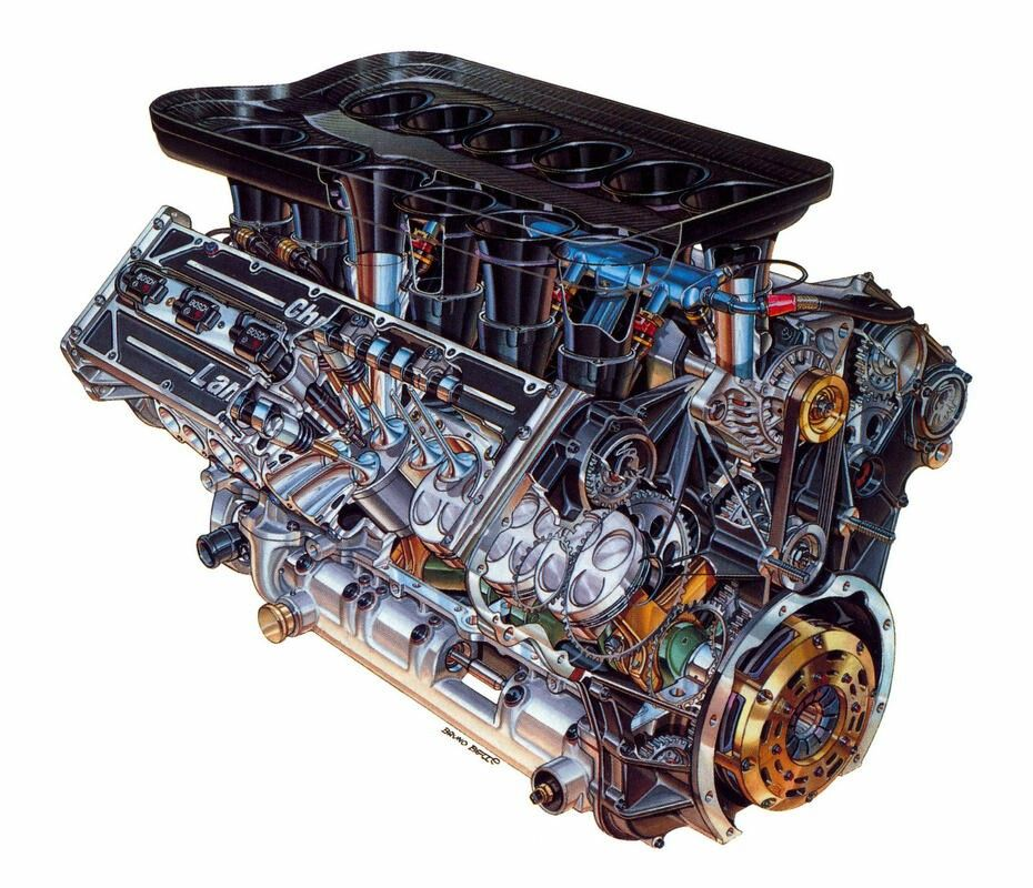 Lamborghini 3500 v12 | engines | Race engines, Lamborghini, Cars