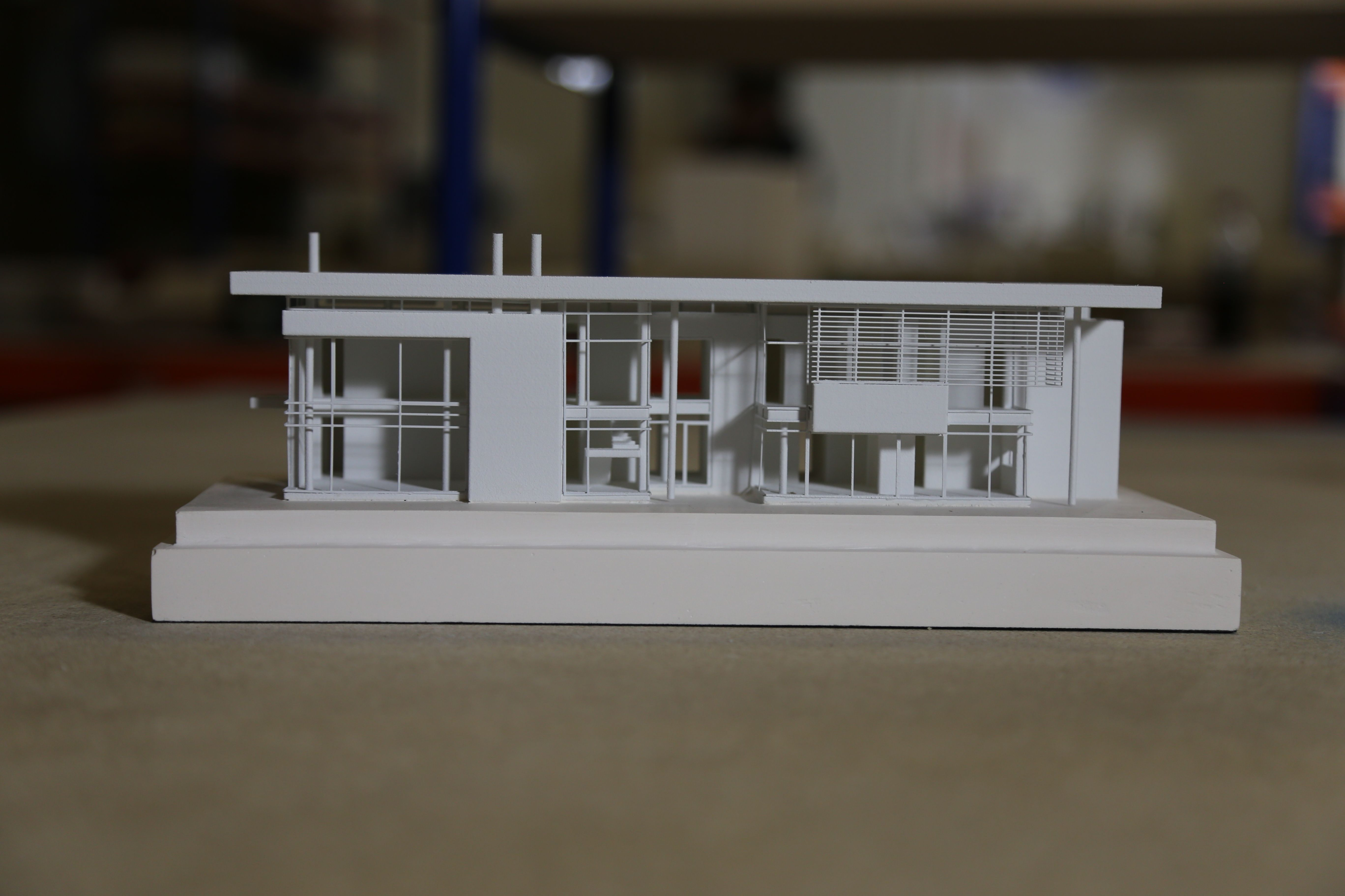 Handsmooth House Designed By Richard Meier We Made This Architectural Model By Creating 3d Drawings