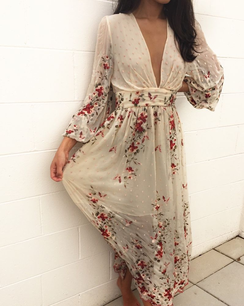 d8d7bf3aee15 Zimmermann Sakura Plunge Embroidery Dress, size 1, 8, 10, BNWOT, RARE SOLD  OUT