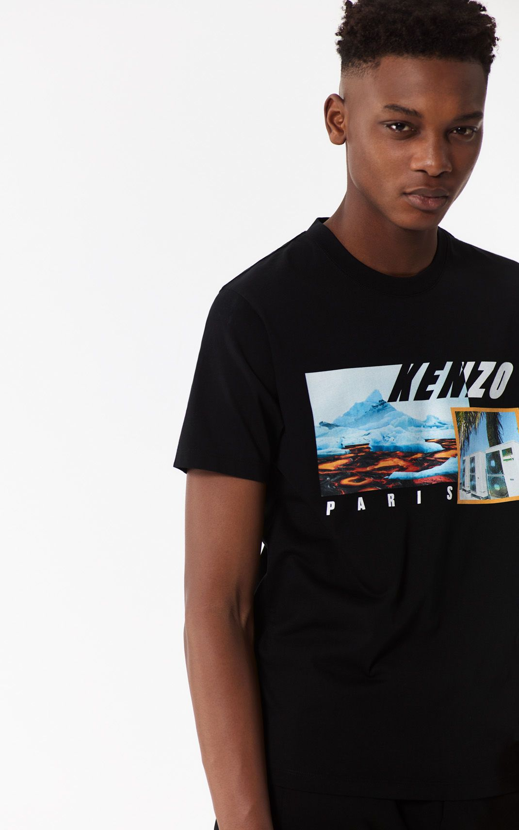 T-shirt  KENZO Landscape  NOIR homme   t shirt   Pinterest 437277d44cb