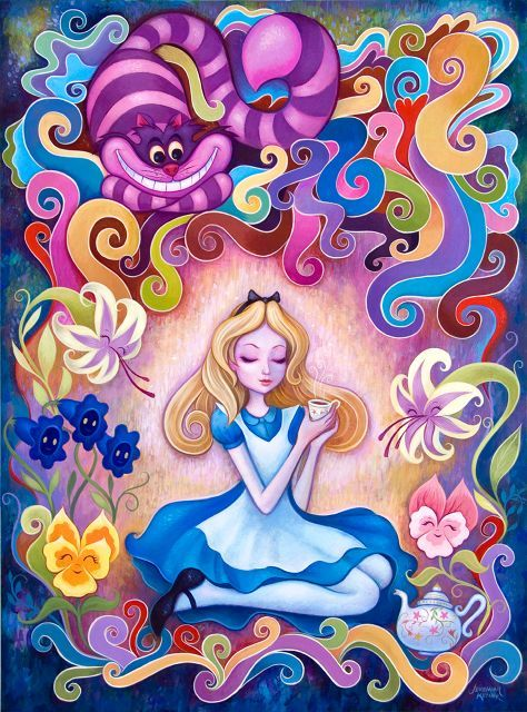 Disney's animated Alice in Wonderland art