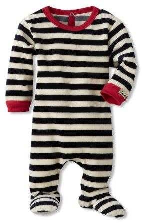 d4669580404f Amazon.com  Coccoli Baby-Boys Newborn Velour Striped Footie ...