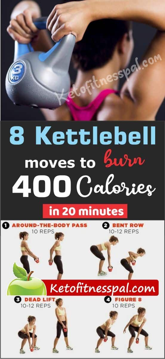 8 Kettlebell Moves to Burn 400 Calories in 20 Minutes in ...
