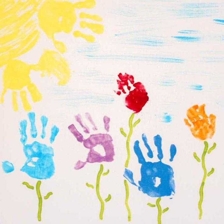 Handprint and footprint art ideas for all seasons paw