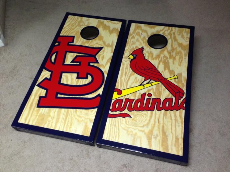 st louis cardinals cornholes nashville cornholes music city boards