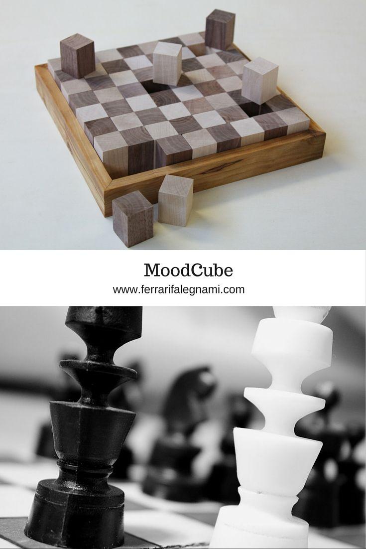 In Legno Wood Design moodcube scacchiera in legno di noce, pero e ulivo