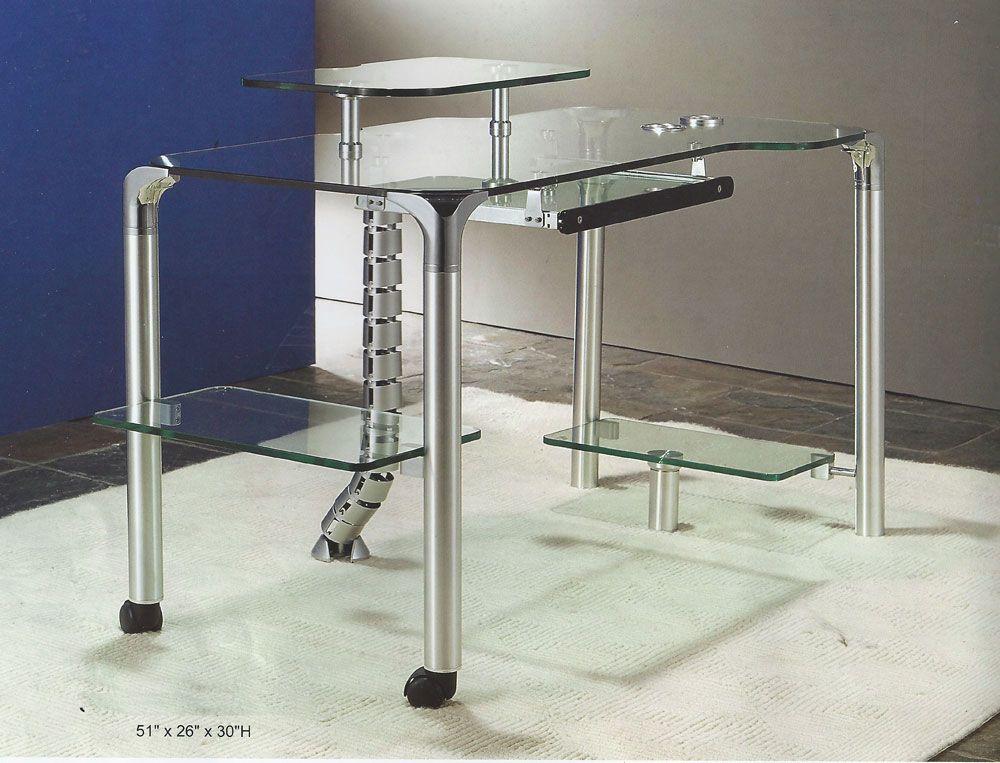 Modern glass computer desk CR55  Computer Desks  Glass