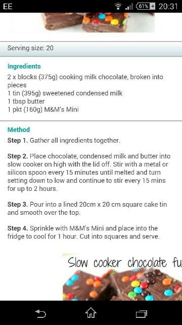 Easy easy fudge!