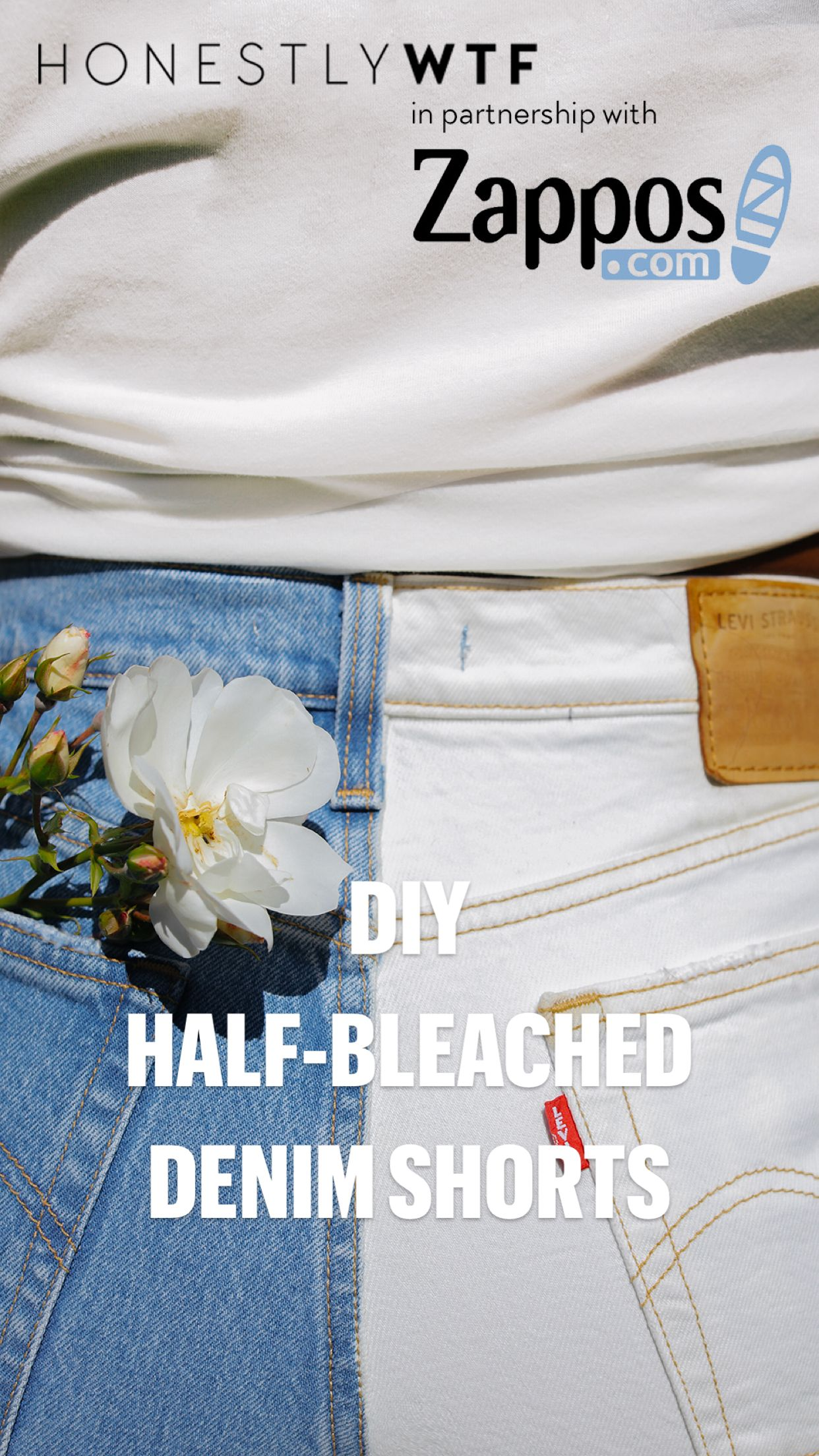 How to turn a pair of jeans into  two-toned denim shorts . . .